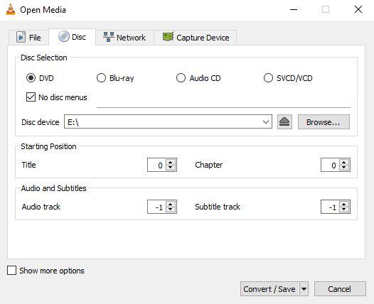 ترفند نرم افزار VLC برای تغییر فرمت DVD